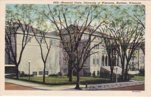 Wisconsin Madison Memorial Union University Of Wisconsin Curteich