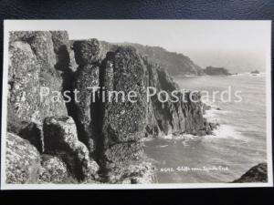 Vintage RPPC - Cliffs near Land's End.
