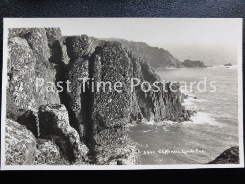 Vintage RPPC - Cliffs near Land's End.