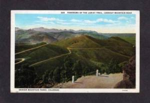 CO Lookout Mt Lariat Trail DENVER COLORADO Postcard PC