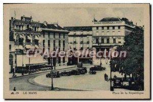 Old Postcard Le Mans Place de la Republique