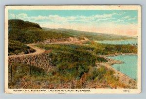 Two Harbors MN-Minnesota, Highway Number 1, North Shore, Vintage c1926 Postcard