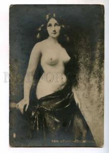244605 NUDE Woman LONG HAIR by Angelo ASTI Vintage Russia PC