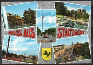 Post Card Stuttgart Germany  Attractions