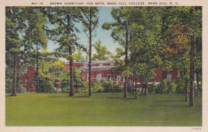 North Carolina Mars Hill Brown Dormitory For Boys Mars Hill College