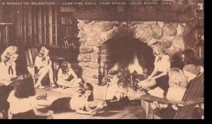 Iowa Cedar Rapids Camp Hitaga Camp Fire Girls Moment Of Relaxation Artvue
