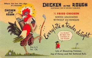 Oklahoma City Oklahoma 1940s Postcard Beverly's Chicken in the Rough