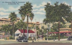 Florida Jacksonville Hemming Park In Downtown 1952 Curteich