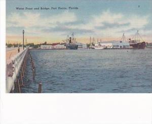 Florida Fort Pierce Water Front &  Bridge 1949