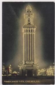 White City Amusement Park , Tower at night , Chicago , Illinois, 1900-10s # 2