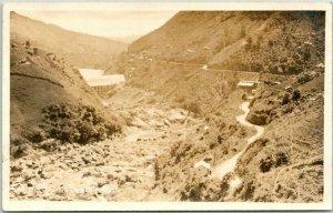 Vintage PUERTO RICO Real Photo RPPC Postcard Comerio Road c1910s Unused