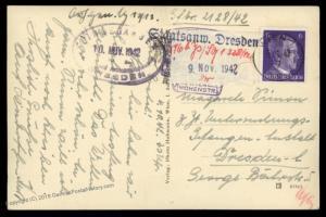 3rd Reich Germany 1942 Gestapo Prisoner Vienna Dresden Cover 86461