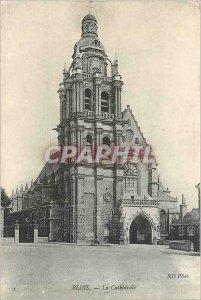 Old Postcard Blois La Cathedrale
