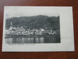 Funchal Postcard 1903 Postmark UDB Used 4 Stamps on Reverse Scene from the sea