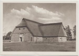 Der Hoffmannshof mit zeitlich angebautem Dreschhaus im Museumsdorf, Cloppenburg