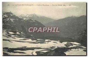 Old postcard Savoy Picturesque Vallee Hauteluce Joly Pass View