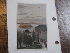 Vintage Postcard Zeppelin Switzerland Prof Z Diemer Unused