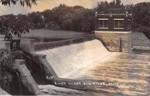 Elk River Minnesota~River Dam~Power House~1950s Real Photo Postcard~RPPC
