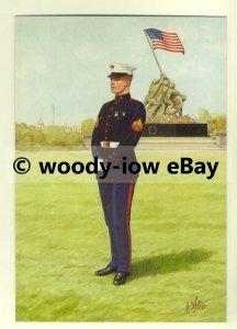 su1449 - US Marine Corps - Corporal - artist Bryan Fosten - postcard
