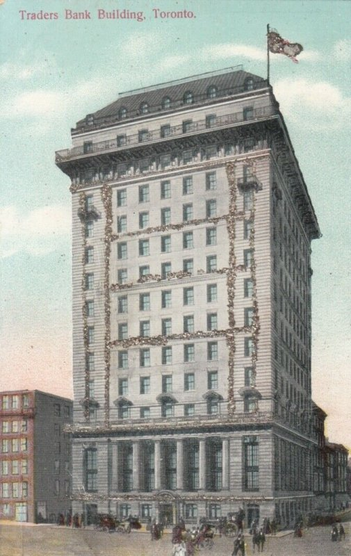 TORONTO, Ontario , 1900-10s; Traders Bank Building with glitter detail