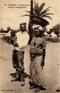CPA Famille Senegalaise MAROC (825191)