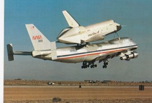 NASA B-747-123 Airplane with Space Shuttle , Edwards AFB , California , 80-90s