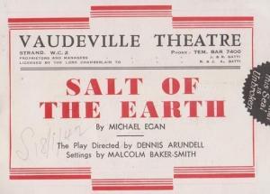 Salt Of The Earth Normandy Farm Drama Vaudeville Theatre London Theatre Progr...