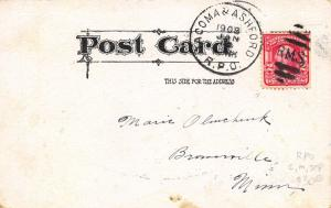 Washington: Rare Tacoma & Ashford RPO Cancel~Clean-Complete (RMS Football) 1908