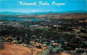 Klamath Falls Oregon~Hilltop Panorama~Town View~1950s Postcard