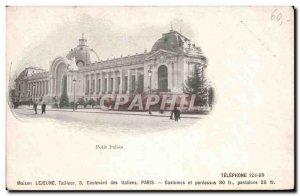 Paris - 8 - Petit Palais - Old Postcard (advertising back Lejeune Tailor Bd I...
