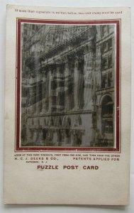 PATERSON NJ STREET SCENE ANTIQUE PUZZLE POSTCARD