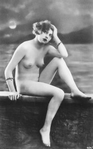 HR-09 - Handmade Risque Nude French Woman New Picture Postcard