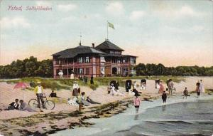 Sweden Ystan Saltsjobaden Beach Scene