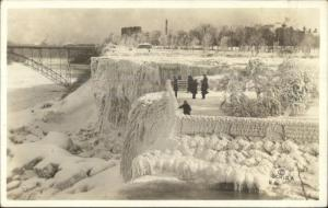 Niagara Falls People on Ice c1910 Real Photo Postcard #3