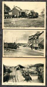 4124 - FRANCE Lot of 3 Postcards Trains, Stations. Lorient Le Guildo Plouezoc