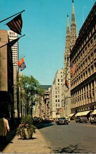 New York City Fifth Avenue Looking Up From 49th Street 1968