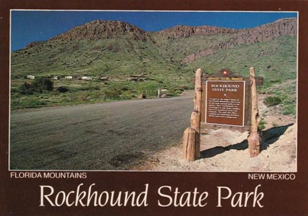 New Mexico Rockhound State Park Entrance Sign In Florida Mountains