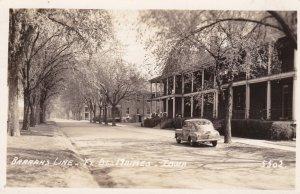Iowa Des Moines Barracks Line Fort Des Moines 1943 Real Photo