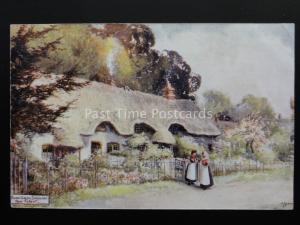Hampshire NEW FOREST Lyndhurst Swan Green Art by Jotter - Old Postcard