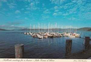 COEUR d'Alene , Idaho , 50-70s Sailboats waiting for breeze