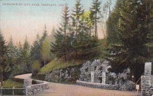 Entrance To City Park Portland Oregon