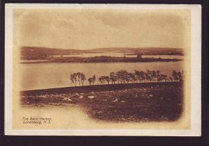 P1538 1913 used tucks postcard view back harbor lunenburg novs scotia canada