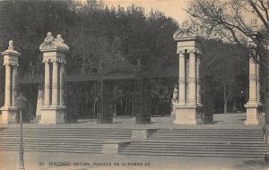 Spain Madrid Retiro Puerta de Alfonso XII Postcard