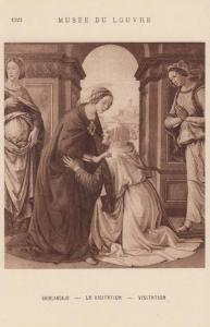 Domenico Ghirlandaio La Visitation Antique Museum De Louvres Painting Postcard