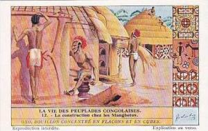 Liebig Vintage Tarde Card S1304 Life Among The Congolese People 1934 No 12 La...