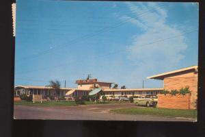 CORPUS CHRISTI TEXAS EBB TIDE MOTEL 1950's CARS VINTAGE ADVERTISING POSTCARD