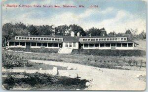 Statesan, Wisconsin Postcard Oneida Cottage, State Sanatorium 1922 Cancel