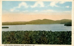 ME - Rangeley. View Across Rangeley Lake