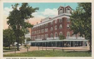 NEWPORT NEWS , Virginia , 1910s ; Hotel Warwick
