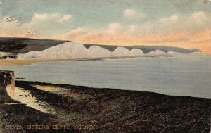 Seven Sisters Cliffs Sussex Sea Landscape Postcard